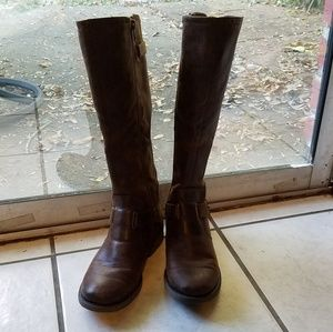 Brown Knee High Riding Boots